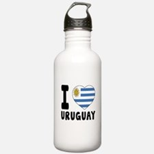 I Love Uruguay Water Bottle