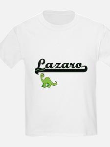 Lazaro Classic Name Design with Dinosaur T-Shirt