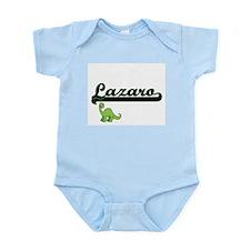Lazaro Classic Name Design with Dinosaur Body Suit