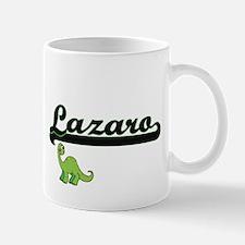 Lazaro Classic Name Design with Dinosaur Mugs