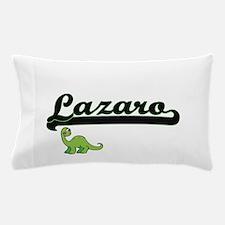 Lazaro Classic Name Design with Dinosa Pillow Case