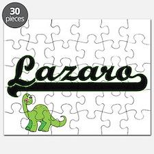 Lazaro Classic Name Design with Dinosaur Puzzle