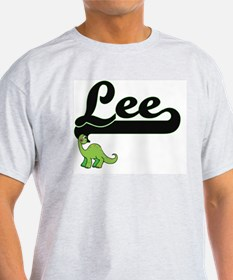 Lee Classic Name Design with Dinosaur T-Shirt