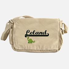 Leland Classic Name Design with Dino Messenger Bag