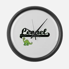 Leonel Classic Name Design with D Large Wall Clock