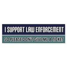 Support Law Enforcement Bumper Bumper Sticker