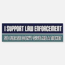 Support Law Enforcement Bumper Bumper Stickers
