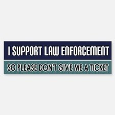 Support Law Enforcement Bumper Stickers