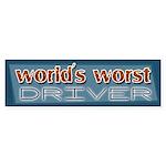 World's Worst Driver Bumper Sticker