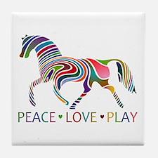 Unique Horse girls Tile Coaster