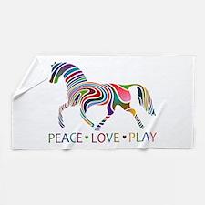 Funny Horse girl Beach Towel