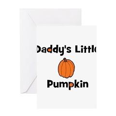 Daddy's Little Pumpkin Greeting Card