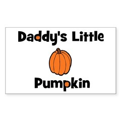 Daddy's Little Pumpkin Rectangle Decal