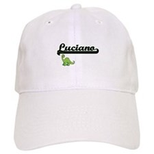 Luciano Classic Name Design with Dinosaur Baseball Cap