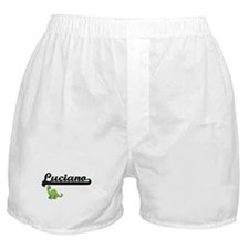 Luciano Classic Name Design with Dino Boxer Shorts