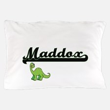 Maddox Classic Name Design with Dinosa Pillow Case