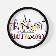 Chicago Fun Skyline Wall Clock