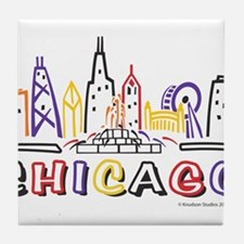 Chicago Fun Skyline Tile Coaster