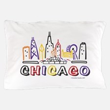 Chicago Fun Skyline Pillow Case