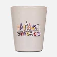 Chicago Fun Skyline Shot Glass