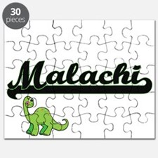 Malachi Classic Name Design with Dinosaur Puzzle