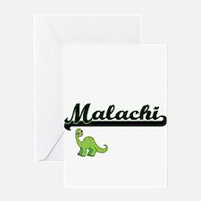 Malachi Classic Name Design with Di Greeting Cards