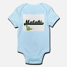Malaki Classic Name Design with Dinosaur Body Suit