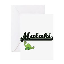 Malaki Classic Name Design with Din Greeting Cards
