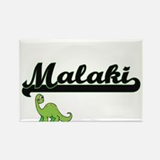 Malaki Classic Name Design with Dinosaur Magnets