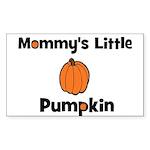 Mommy's Little Pumpkin Rectangle Sticker