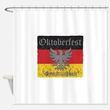 Oktoberfest Flag and Eagle Shower Curtain