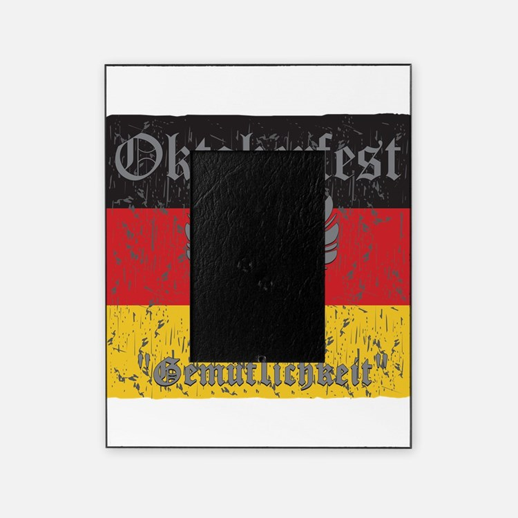 Oktoberfest Flag and Eagle Picture Frame