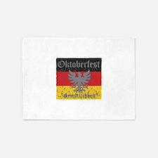 Oktoberfest Flag and Eagle 5'x7'Area Rug