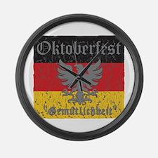 Oktoberfest Flag and Eagle Large Wall Clock