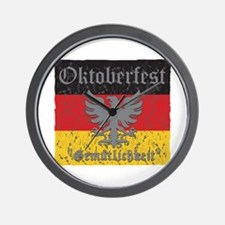 Oktoberfest Flag and Eagle Wall Clock