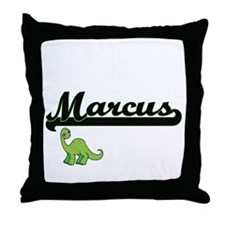 Marcus Classic Name Design with Dinos Throw Pillow