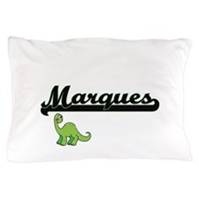 Marques Classic Name Design with Dinos Pillow Case