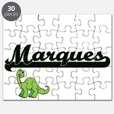 Marques Classic Name Design with Dinosaur Puzzle