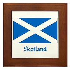 Scotland Flag Framed Tile