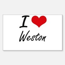 I Love Weston Decal