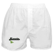 Marvin Classic Name Design with Dinos Boxer Shorts