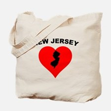 New Jersey Heart Tote Bag
