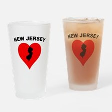 New Jersey Heart Drinking Glass