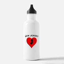 New Jersey Heart Water Bottle