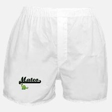 Mateo Classic Name Design with Dinosa Boxer Shorts