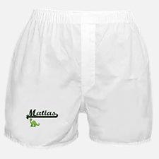 Matias Classic Name Design with Dinos Boxer Shorts
