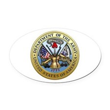 GOVT SEAL - DEPARTMENT OF THE ARMY Oval Car Magnet