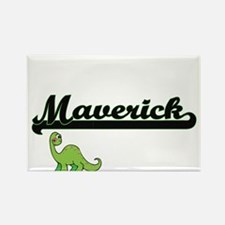 Maverick Classic Name Design with Dinosaur Magnets