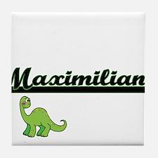 Maximilian Classic Name Design with D Tile Coaster