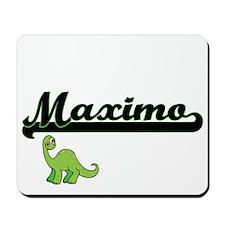 Maximo Classic Name Design with Dinosaur Mousepad